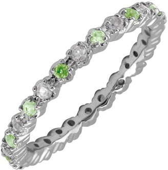 Simply Stacks Sterling Peridot & Diamond Stackable Ring