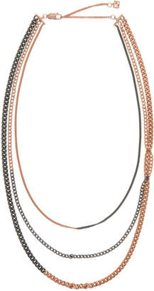 Faith Connexion Rose Gold and Gunmetal Space Necklace