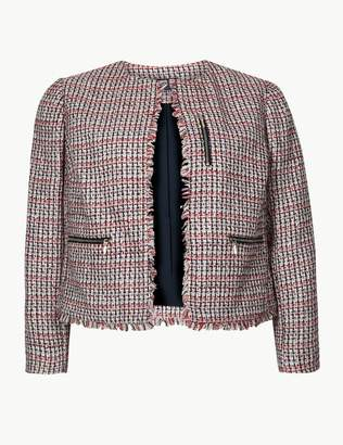 Marks and Spencer Textured Open Front Blazer