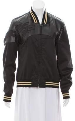 3.1 Phillip Lim Lamb Leather Appliqué Bomber Jacket