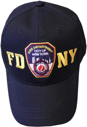 Factory NYC FDNY Baseball Hat Police Badge Fire Department of New York City & Gold O.