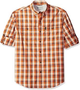 G.H. Bass & Co. Men's Explorer Fancy Short Sleeve Plaid Shirt