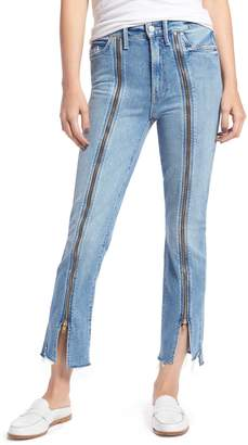 Mother The Rascal High Waist Zip Step Hem Jeans