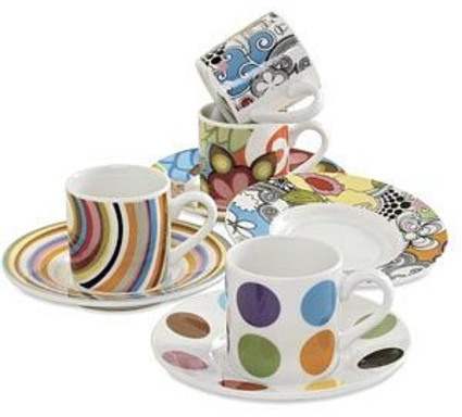 French Bull Ceramic Espresso Set