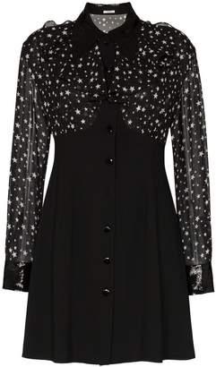 Miu Miu star print button-down collared dress