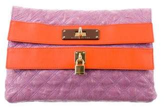 Marc Jacobs Quilted Double Flap Clutch