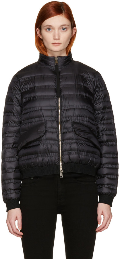 MonclerMoncler Black Violette Down Coat
