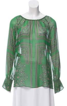 Derek Lam Printed Silk Top green Printed Silk Top