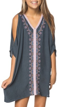 Girl's O'Neill Flynn Embroidered Cover-Up Dress $42 thestylecure.com