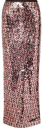 McQ Sequined Tulle Maxi Skirt - Pink