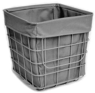 Homz Off the Wall Wire Basket, Grey, Set of 1