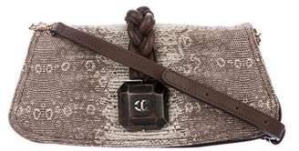 Just Cavalli Embossed Leather Crossbody Bag