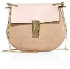 Chloé Mini Drew Leather& Suede Saddle Bag