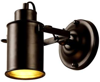 American Retro Lilamins Antique Wall Lamp Iron Industrial Air Corridor Over Road Hotel Bar Cafe Bedside Lamp Black 17*8.5Cm