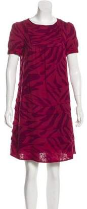 Marc by Marc Jacobs Printed Wool-Blend Dress