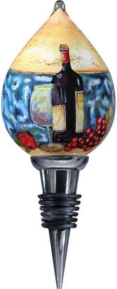 Precious Moments Ne'Qwa Art Hand-Painted Blown Glass Wine And Music Wine Stopper