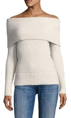 Rebecca Taylor Off-The-Shoulder Wool Blend Sweater