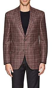 Jack Victor MEN'S CHECKED TWO-BUTTON SPORTCOAT-ROSE SIZE 44 R