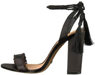 Schutz Black Tassel Heel
