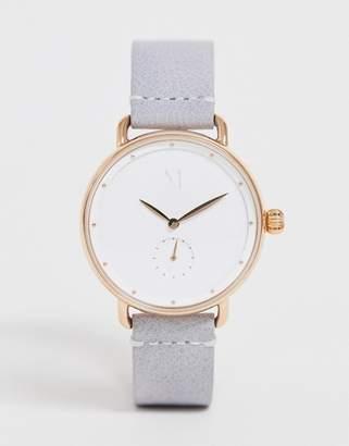MVMT Bloom leather watch