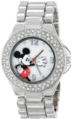 Disney Women's MK2070 Mickey Mouse Mother-of-Pearl Dial -Tone Bracelet Watch