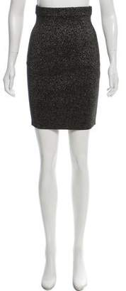 Diane von Furstenberg Metallic Knee-Length Skirt