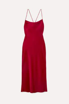 Jason Wu Open-back Satin-crepe Midi Dress - Red
