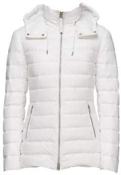 Mackage Women's Kimiana Water-Repellent Down Puffer Jacket - Off White - Size XL
