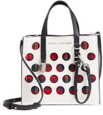 Marc Jacobs Perforated Tartan Plaid & Leather Tote