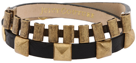 Juicy Couture Leather & Watchband Wrap Bracelet