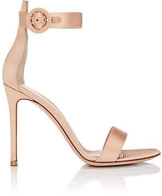 Gianvito Rossi Women's Portofino Satin Ankle-Strap Sandals - Powder