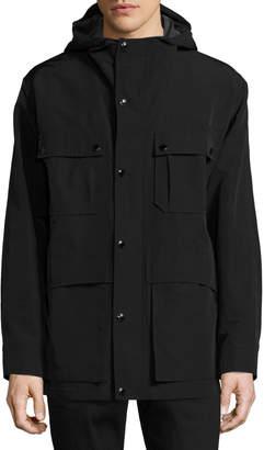 Tom Ford Hooded 4-Pocket Field Jacket, Black