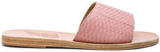 Ancient Greek Sandals Snakeskin Embossed Taygete Sandals