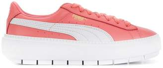 Puma lace up platform sneakers