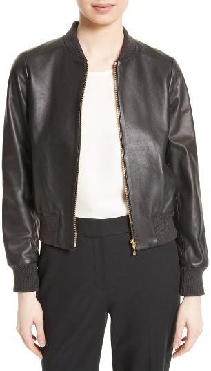 Kate SpadeWomen's Kate Spade New York Leather Bomber Jacket