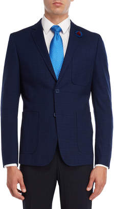 English Laundry Navy Grid Sport Coat
