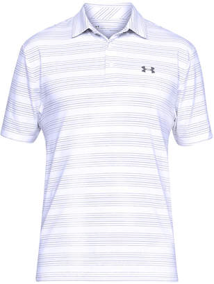 Under Armour Men's Playoff Performance Mid Striped Golf Polo