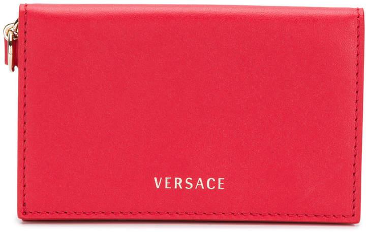 Versace foldover card case