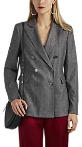 Giorgio Armani Women's Wool-Blend Double-Breasted Blazer - Gray