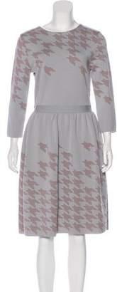 Christian Dior Wool Knit Midi Dress