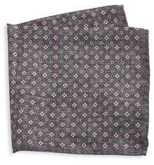 Saks Fifth Avenue COLLECTION Silk Floral& Polka Dot Pocket Square