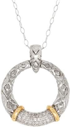 Fine Jewellery Two-Tone 0.20 CT. T.W. Diamond Ring Pendant Necklace