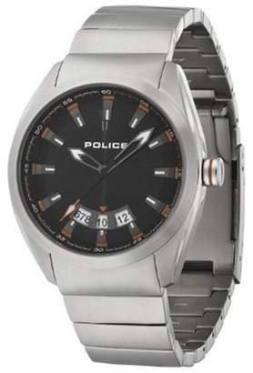 Police Men's PL-12552JS/02M Solid Black Dial Watch
