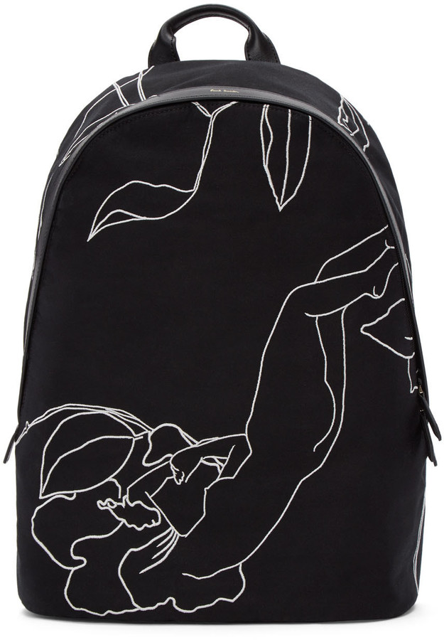 Paul Smith Paul Smith Black 'Botanical Nudes' Backpack