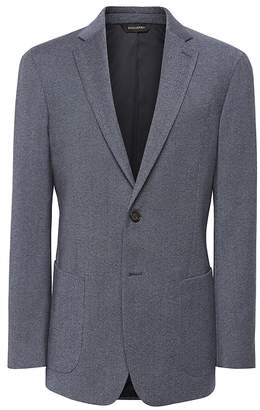Banana Republic Slim Brushed Oxford Suit Jacket