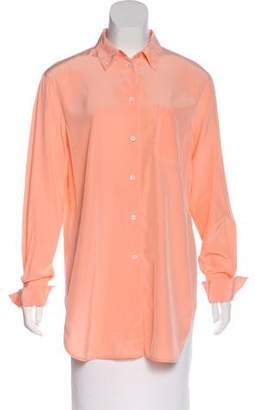 Elizabeth and James Long Sleeve Button-Up Top
