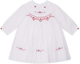Sarah Louise Floral Embroidered Smock Dress