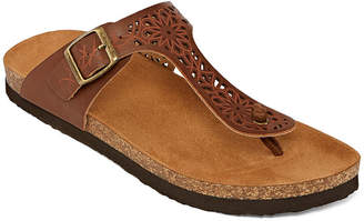 5182aa56e08d Arizona Penny Womens T-Strap Footbed Sandals
