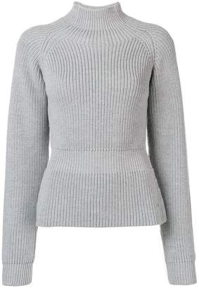 Fay ribbed knit high neck sweater