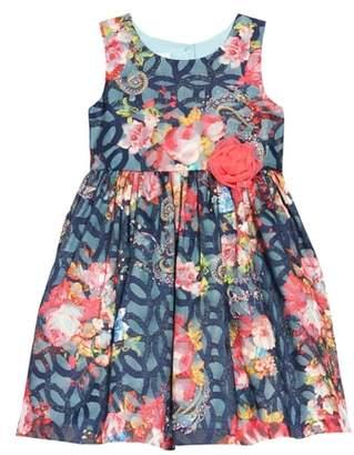 Frais Floral Mesh Burnout Dress
